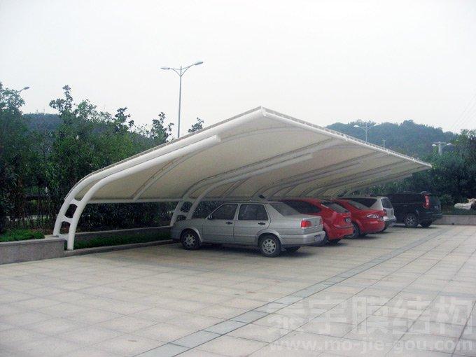 汽车车棚_自行车膜结构停车棚